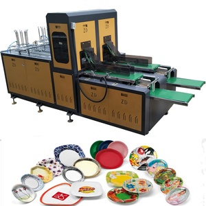 disposable paper plate production line / take away food box making machine
