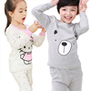 fashionable cartoon photo 100% cotton long johns thermal underwear