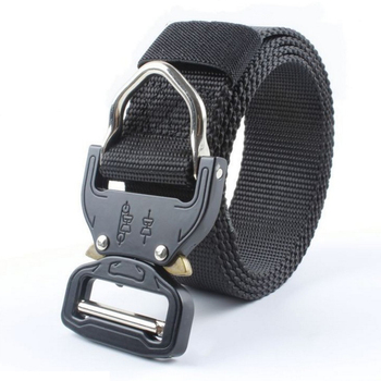 Popular Style 130 cm Length Nylon Web Mens Black Belt