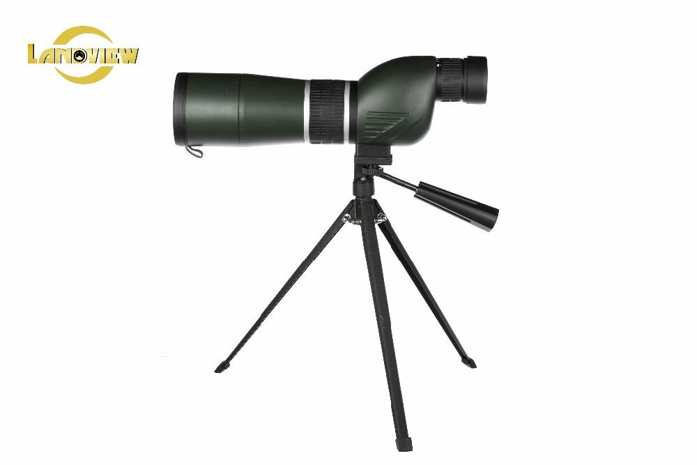 Mengamati burung spotting scope dengan tripod teleskop