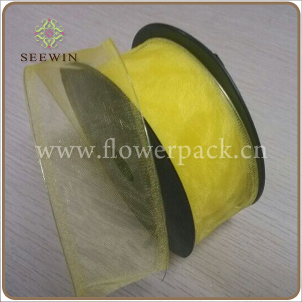 Organza Ribbon with Wire for Flower Wrapping