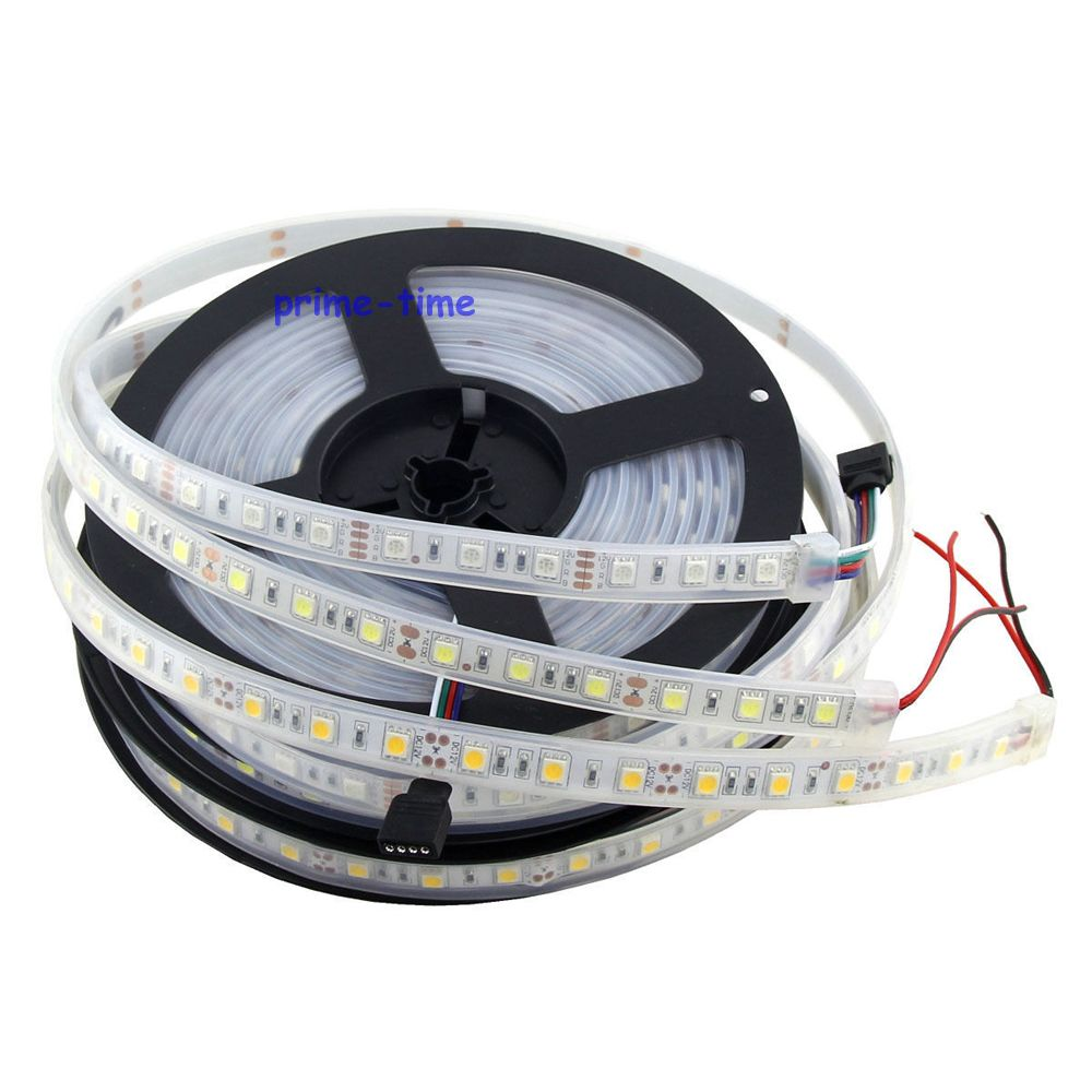 5m 5050 300 leds ip67 waterproof led strip 12v 60led m flexible led tape white warm white rgb. Black Bedroom Furniture Sets. Home Design Ideas