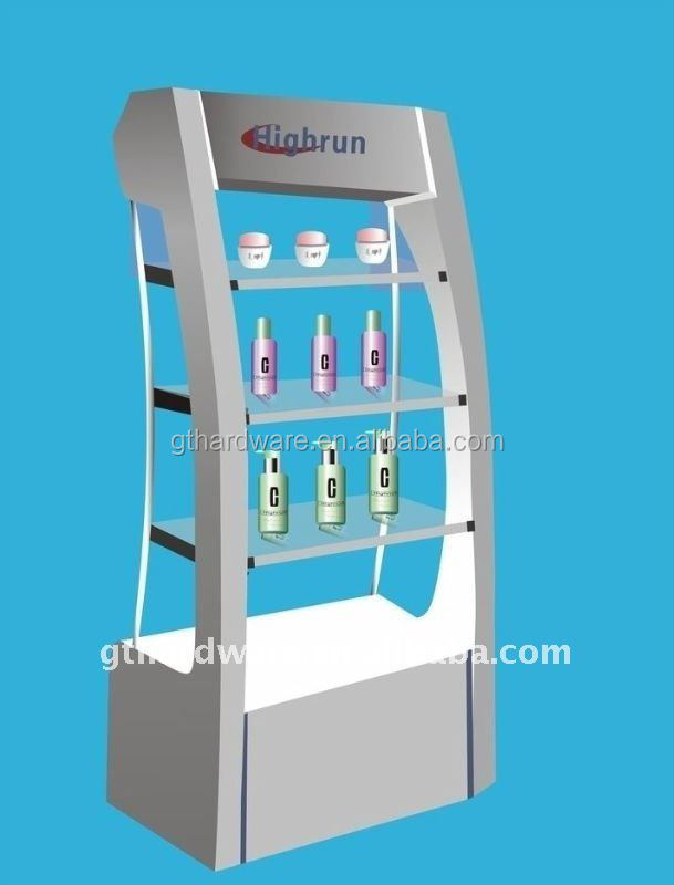 Cosmetic display stand make up Display stand Modern store furniture for comestics Essential Oil Display stands
