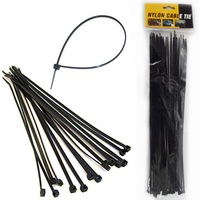 "Professional Manufacturer Nylon Cable Zip Tie 4"" 6"" 8"" 10"" 12"" Inch Self Locking Natural White Black Color Pack of 100 Pcs"