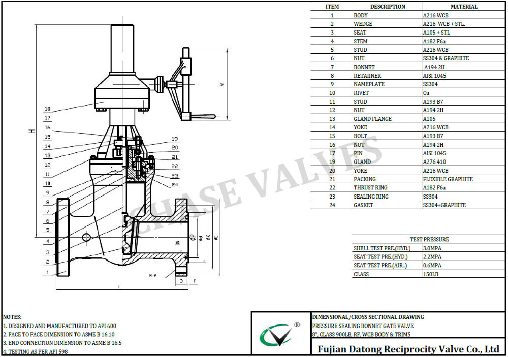 China Supplier High Pressure Customized Gate Valve