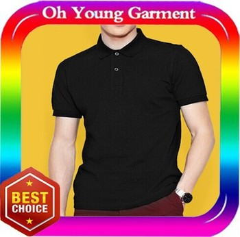 Plain Black Cotton Polo T Shirts Manufacturers China Customed All ...