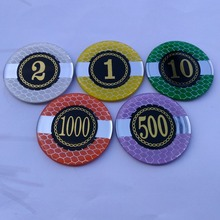 40mm 45mm 50mm 55mm aangepaste casino Acryl <span class=keywords><strong>poker</strong></span> chip