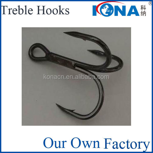 wholesale round bent treble hook kona hooks