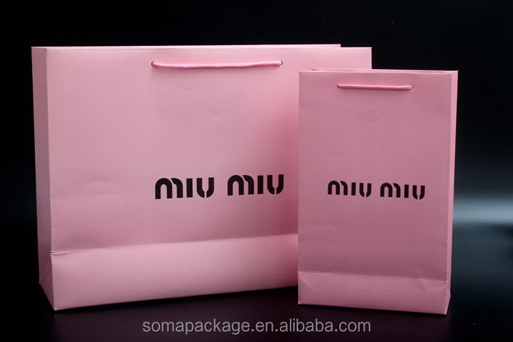 Modern and elegant in fashion hot sell custom craft paper gift bag