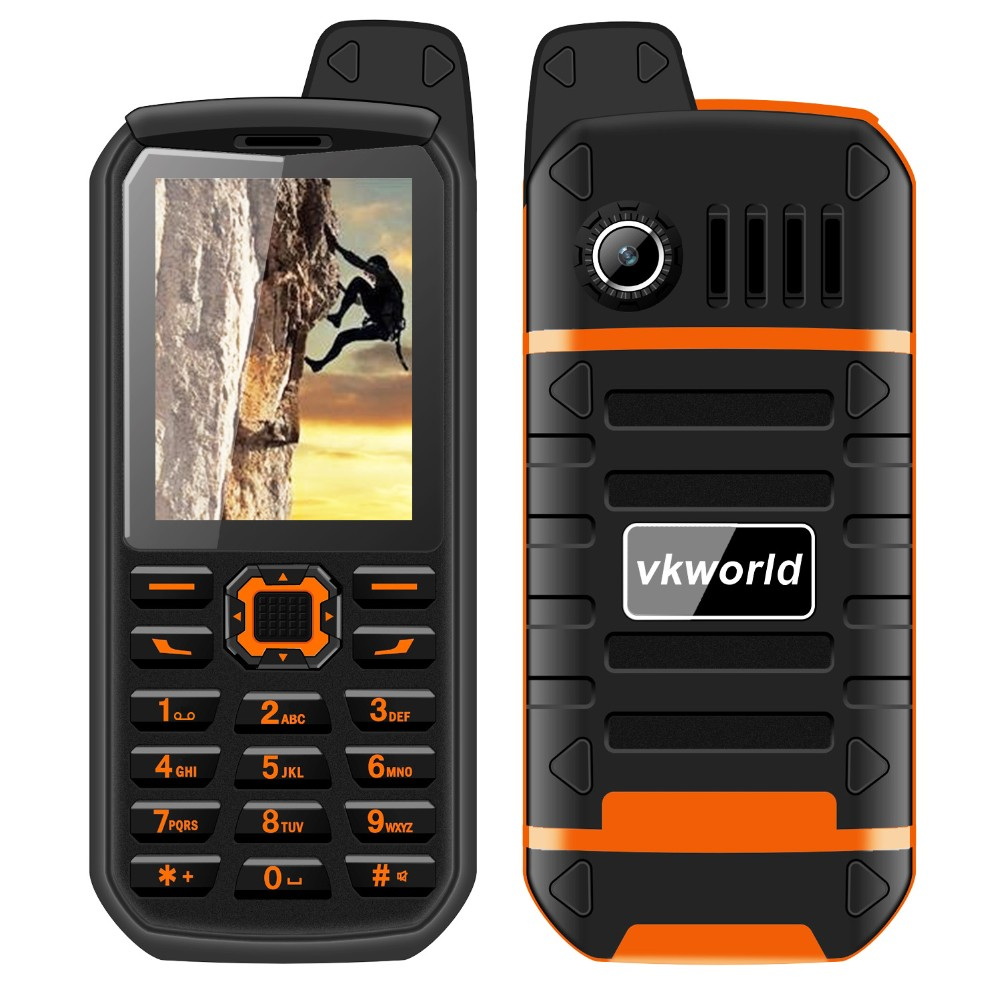 Wholesale VKWORLD Stone V3 Plus 2.4inch Dual Sim Cards Waterproof rugged bar cell phone 3000mah OEM Mobile Phone