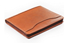 High quality leather document portfolio folder with holder for tablet and mobile phone