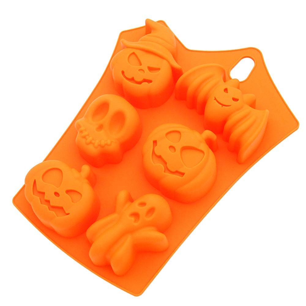 Silicone muffin pan,LKE Cupcake Makers Halloween Limited muffin pans non stick for cake molds kitchen baking tools accessories