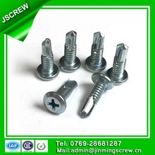 blue zinc ROHS pan framing head left thread self drilling screw