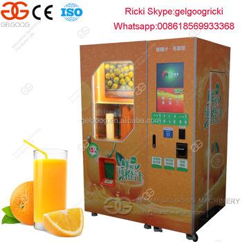 Orange Juicer Vending Machine Fresh Squeezed Orange Juice Vending