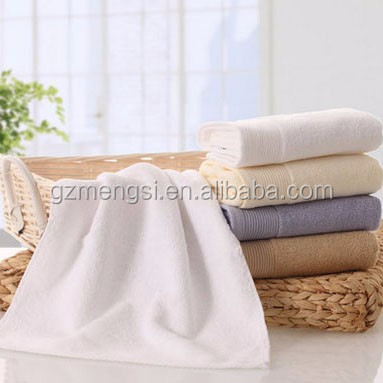 Hotel customized LOGO high quality 100% combed cotton bath and face towel