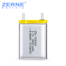 High power capacity li ion battery cell 103450 1800mah 3.7V