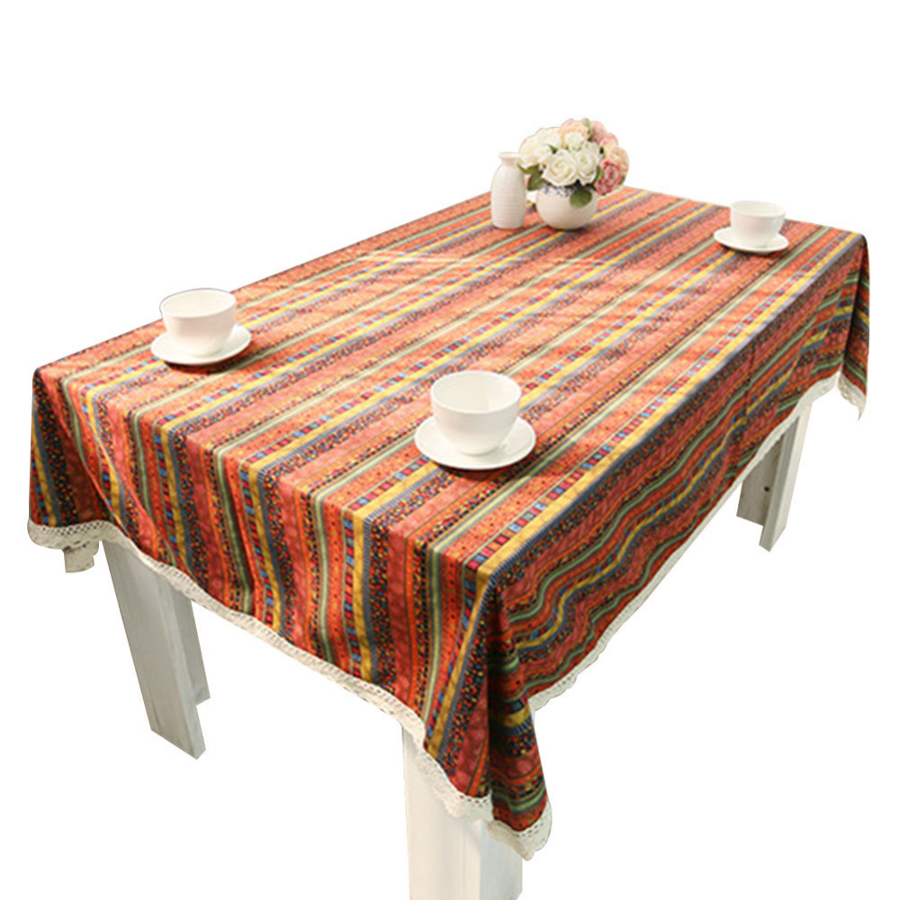 New Tibeten Style Table Cloth Bohemian Oilproof Table Cloth Dinning Table Covering Home Decoration Bohemia Linen Cotton Cover