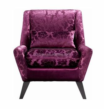 Purple Velvet Modern Accent Chair/ High Quality Elegant Armchair