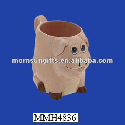 Adorable funny ceramic pig cup