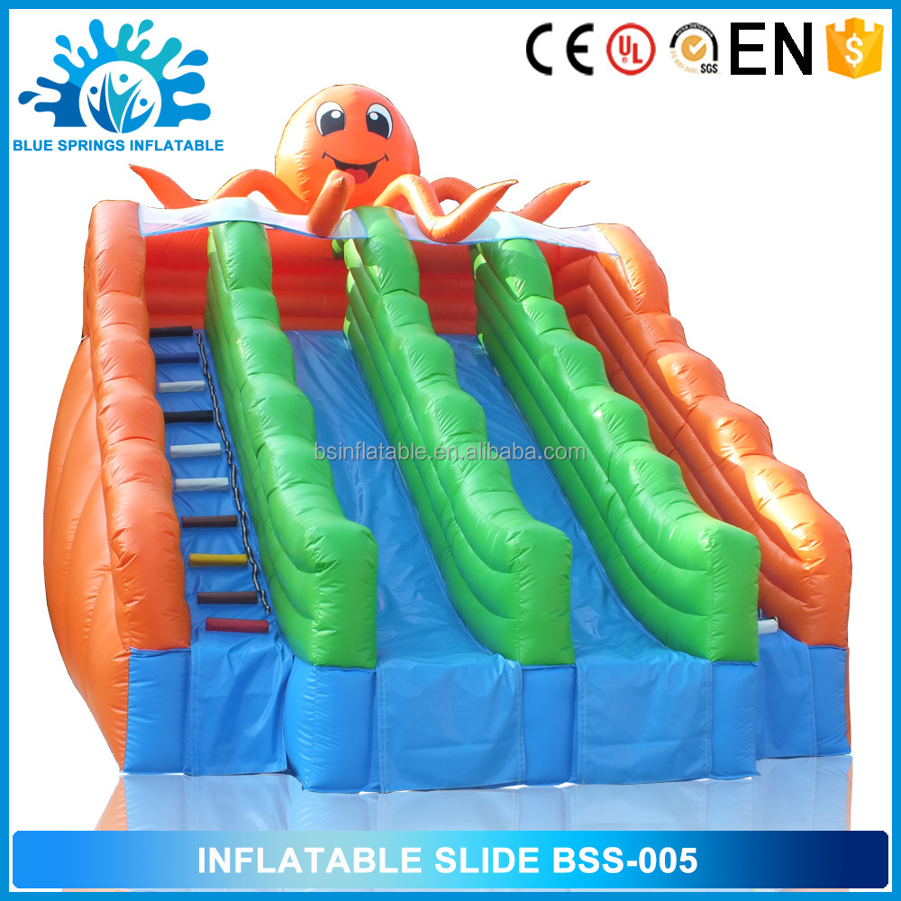 Blue Springs Manufacture Swimming Pool Slide Octopus Inflatable Slide