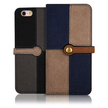 C&T Cellphone Wallet Magnetic PU Leather Jean Flip Case for Apple iPhone 6/6S Plus 5.5inches