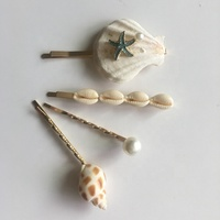 Women Ladies Korea Pearl Barrettes Elegant Jewelry Hairgrips Shell HairPins Hair Accessories