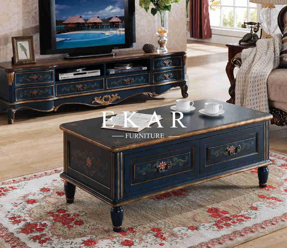 Nieuwe ontwerp thuis stijl hout multifunctionele salontafel ...