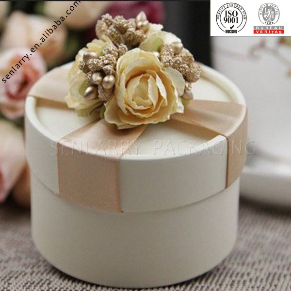 Decorative Round Boxes Cool Fashionable Delicate Recyclable Circle Shape Cardboard Box 2018
