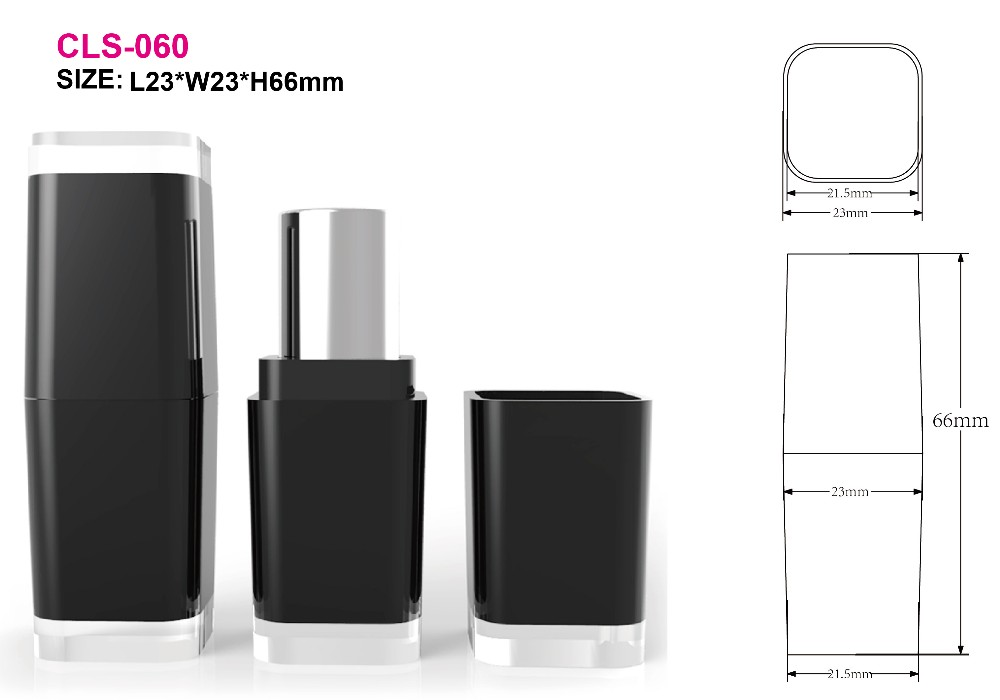 lips use luxury cosmetic type square lipstick tube container