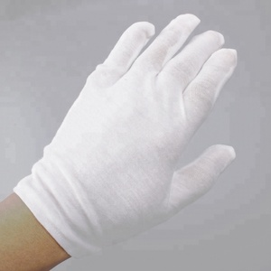Wholesale Soft White Cotton Hand Gloves for Safety Protection