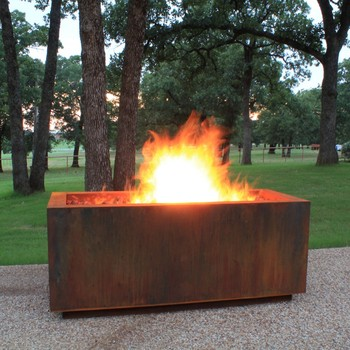 Corten Steel Freestanding Outdoor Fireplace From China Buy Steel