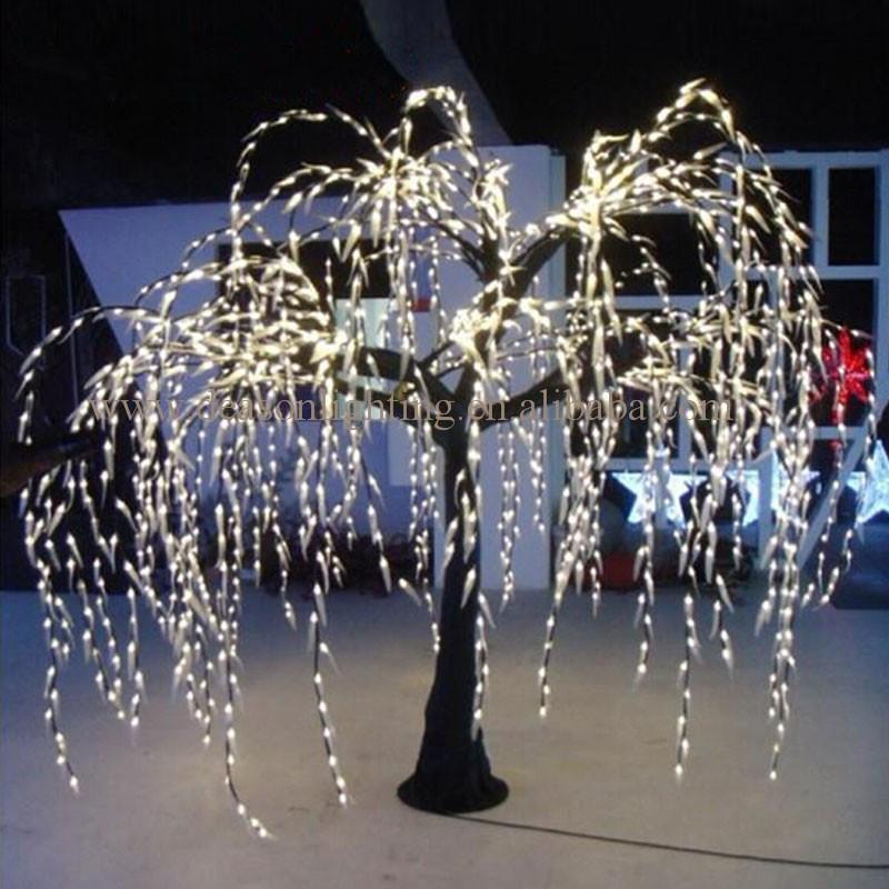 White Metal Christmas Tree With Lights