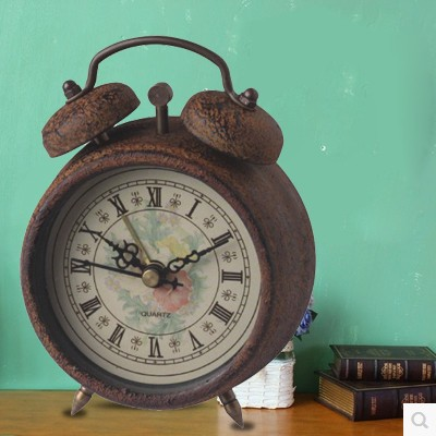 pengyuan antique grandfather two bell alarm kids table clock