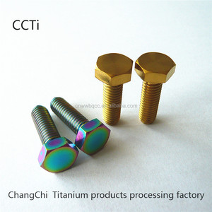 china deep price Titanium hex fasten bolt