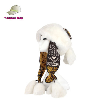 5906e17502a171 Mongolia Womens Faux Fur Trapper Hat With Ears & Pom Poms - Buy ...