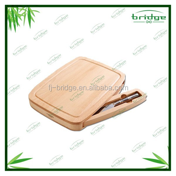 Totally Bamboo Material Horizontal Grain bamboo cutting board with drawers