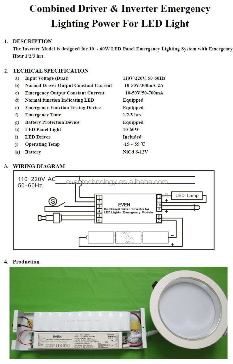 Led Tube Wiring Diagram In Stock T Lights G Rd Ft Ture W Light Dual 5w Rechargeable Emergency Lighting Module Battery