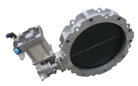 100-400 mm double flange pneumatic butterfly valve