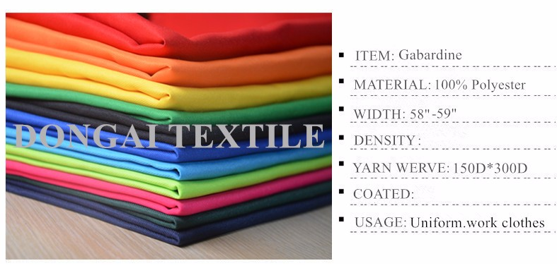 100% poly twill suit fabric polyester cosplay uniform fabric