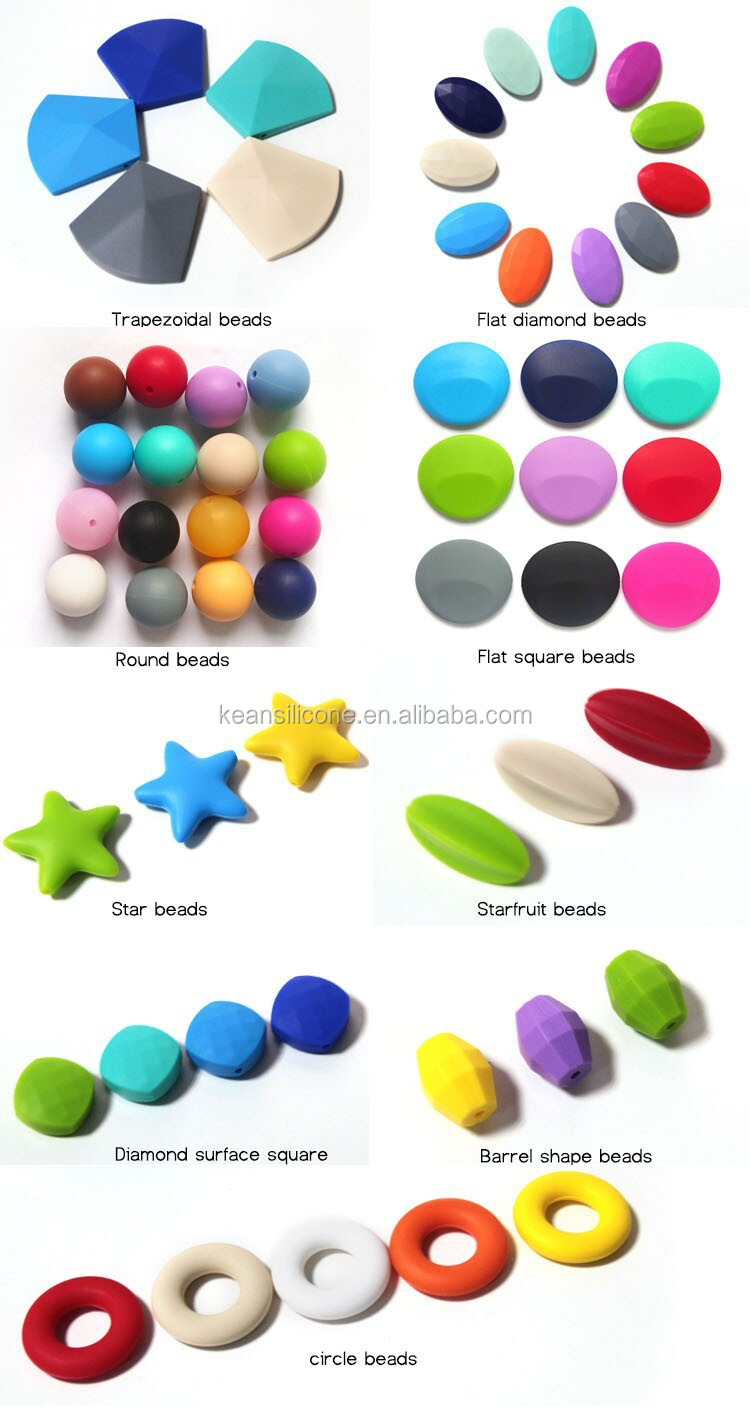 Custom Personalize Logo Beads Bulk Plastic And Silicone Natural ...