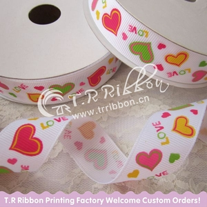 2015 Valentine's day printed ribbon