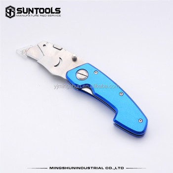 With competitive price on sale stainless steel folding blade utility cutter knife