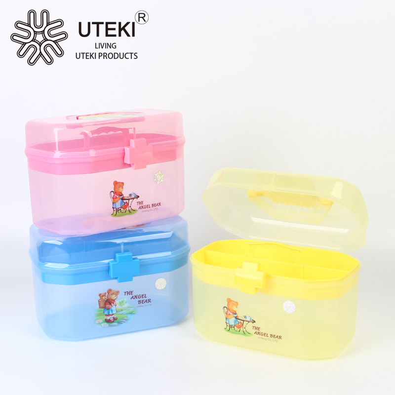 Hot sale plastic medicine storage box for household