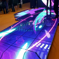 "China professional customized aliexpress floor 7-10.1"" theft-proof secure table & screen 4.81 dance led display OEM and ODM"
