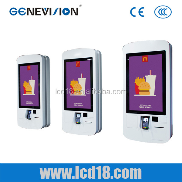 New design 32 inch advertising screen fast food ordering self service <strong>payment</strong> kiosk machine for McDonald/KFC