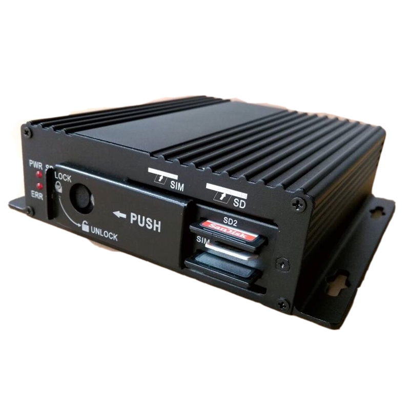 HD AHD 4channel 4g mobile nvr WIFI GPS double SD card slot MDVR car <strong>DVR</strong>