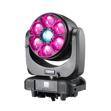 dj equipment 7x60W super beam effect 4-in-1 rgbw led wash zoom moving head light with pixel control for TV shows