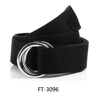 Black Woven Cotton D-ring Strap Belt With Leather End - Buy Cotton D ... cb0ec18f19c