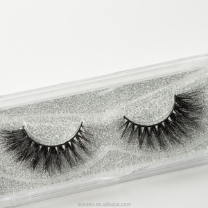 Elegant Cross 100% Real Mink Thick False Eyelashes 4D Eye Lashes Lily style
