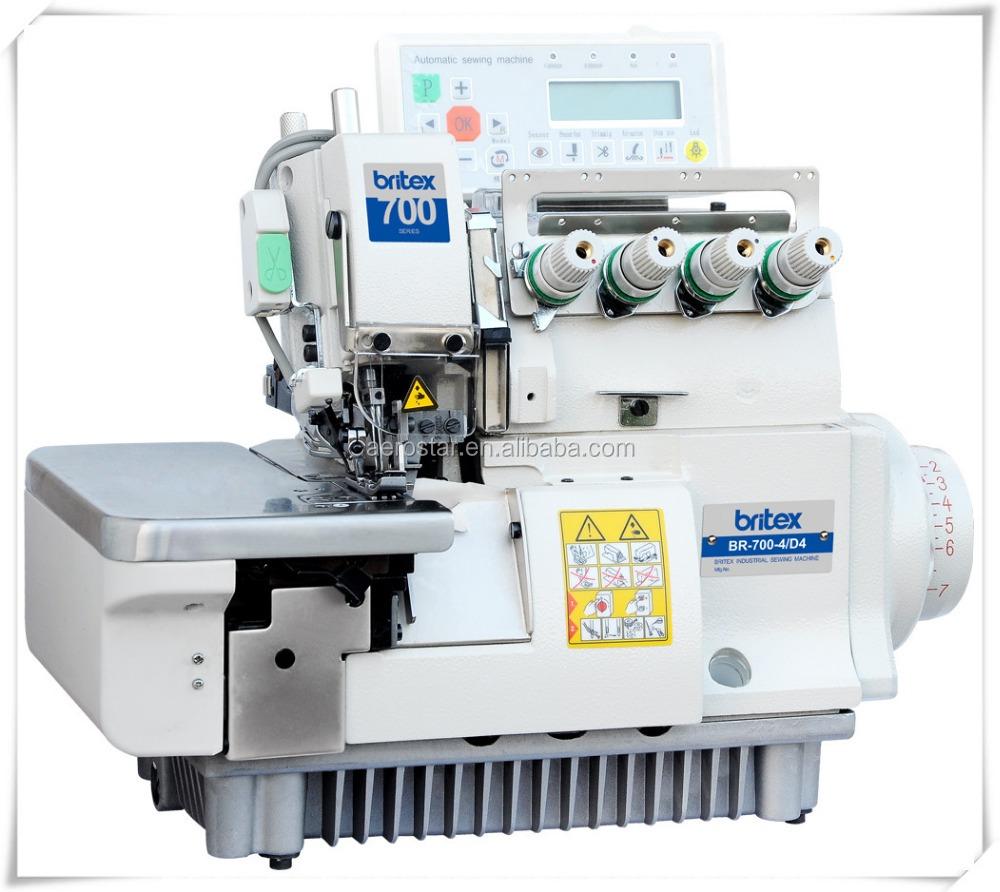 BR-700-4D4 hot sale Computerized Automatic Four Thread Industrial Brother Price Overlock Needle Guard Sewing Machine